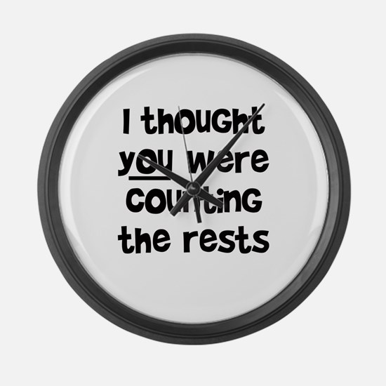 who's counting the rests? Large Wall Clock