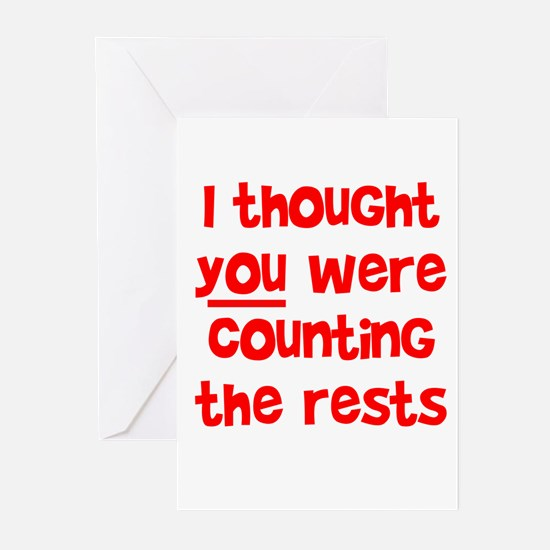 who's counting the rests? Greeting Cards (Pk of 10