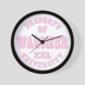 Property of Wagoner University Wall Clock