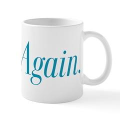Think.Again. Mug, Blue