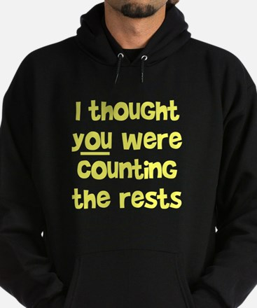 who's counting the rests? Hoodie (dark)