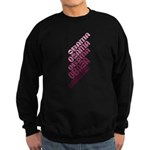Stacked Obama Purple Sweatshirt (dark)