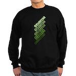 Stacked Obama Green Sweatshirt (dark)