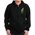 Stacked Obama Green Zip Hoodie (dark)