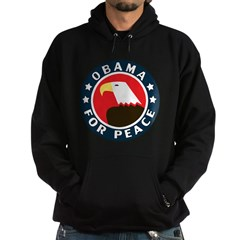 Obama For Peace Hoodie (dark)