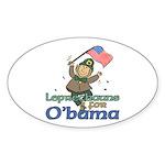 Leprechauns for O'Bama Oval Sticker (50 pk)