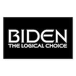 Logical Biden Rectangle Sticker 10 pk)