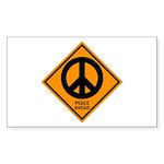 Peace Ahead Rectangle Sticker 10 pk)