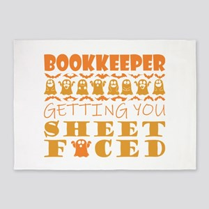 Bookkeeper Getting You Sheet Faced 5'x7'Area Rug