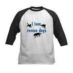 I Love Rescue Dogs Kids Baseball Jersey