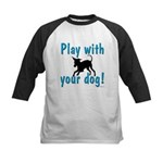 Play With Your Dog Kids Baseball Jersey