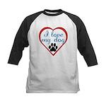 I Love My Dog Kids Baseball Jersey