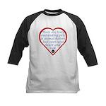 Open Your Heart Kids Baseball Jersey