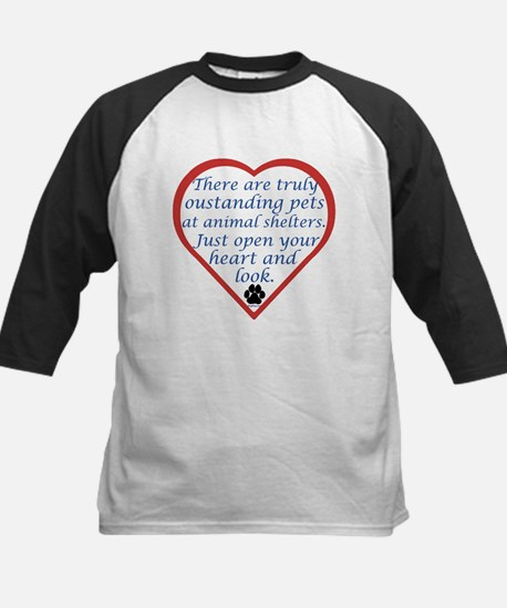 Open Your Heart Kids Baseball Jersey