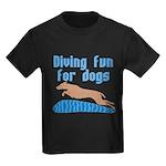 Diving Dog Kids Dark T-Shirt