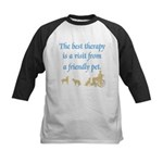 Best Therapy Is A Visit Kids Baseball Jersey