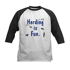 Herding is Fun Kids Baseball Jersey