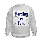 Herding is Fun Kids Sweatshirt