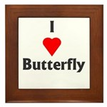 I Love Butterfly Framed Tile