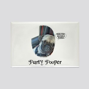 PARTY POOPER PUG Rectangle Magnet
