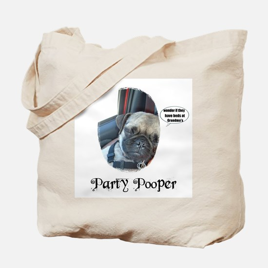 PARTY POOPER PUG Tote Bag