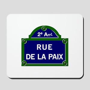 Rue de la Paix, Paris Mousepad