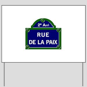 Rue de la Paix, Paris Yard Sign