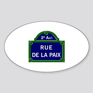 Rue de la Paix, Paris Oval Sticker