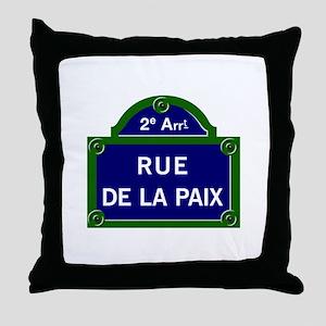 Rue de la Paix, Paris Throw Pillow
