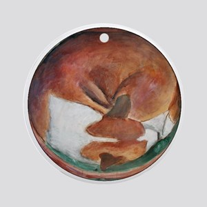 A Basenji Ornament (Round)