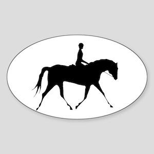 Horse & Rider Oval Sticker