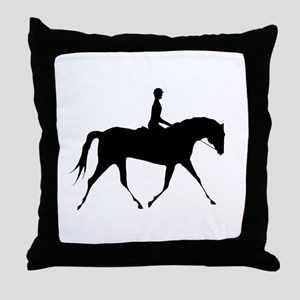 Horse & Rider Throw Pillow