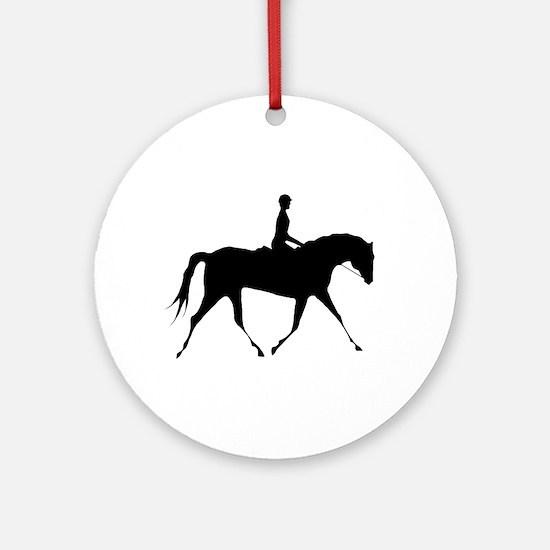 Horse & Rider Ornament (Round)