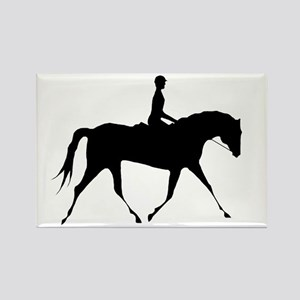 Horse & Rider Rectangle Magnet