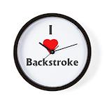 I Love Backstroke Wall Clock