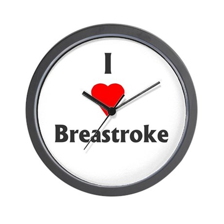 I Love Breaststroke Wall Clock
