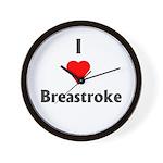 I Love Breaststroke Wall Clock