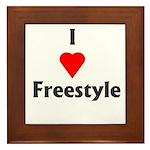I Love Freestyle Framed Tile