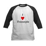 I Love Freestyle Kids Baseball Jersey