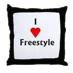 I Love Freestyle Throw Pillow
