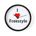 I Love Freestyle Wall Clock