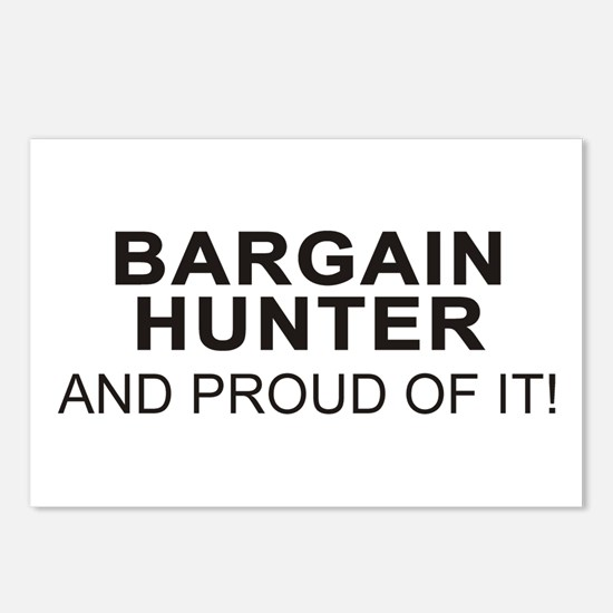 Proud Bargain Hunter Postcards (Package of 8)