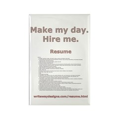 writewaydesigns.com/resume.html Rectangle Magnet (