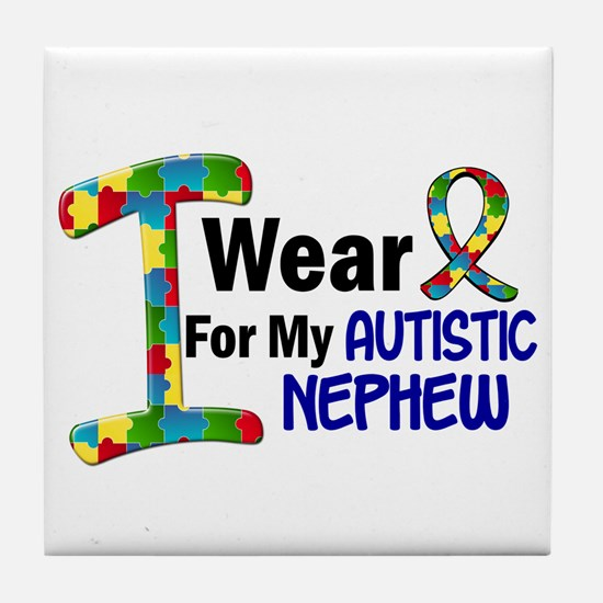 I Wear Puzzle Ribbon 21 (Nephew) Tile Coaster