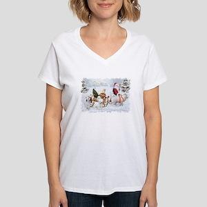 Great Pyrenees and Santa T-Shirt