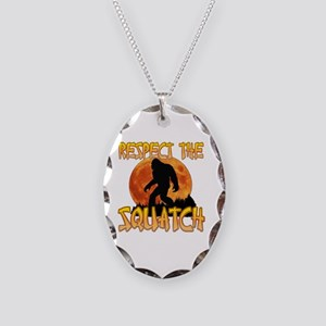 Respect the Squatch Necklace Oval Charm