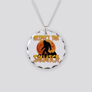 Respect the Squatch Necklace Circle Charm