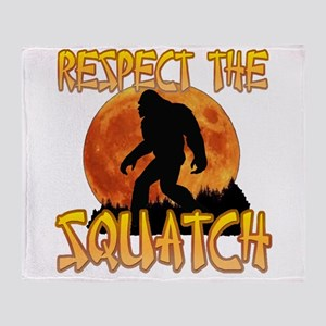 Respect the Squatch Throw Blanket