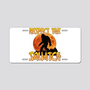 Respect the Squatch Aluminum License Plate