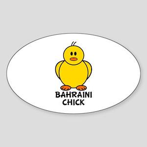 Bahraini Chick Oval Sticker